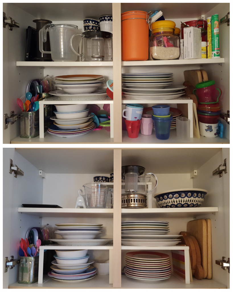 ordnung ordnungssystem küche tipps aufräumen ordentlich stauraum