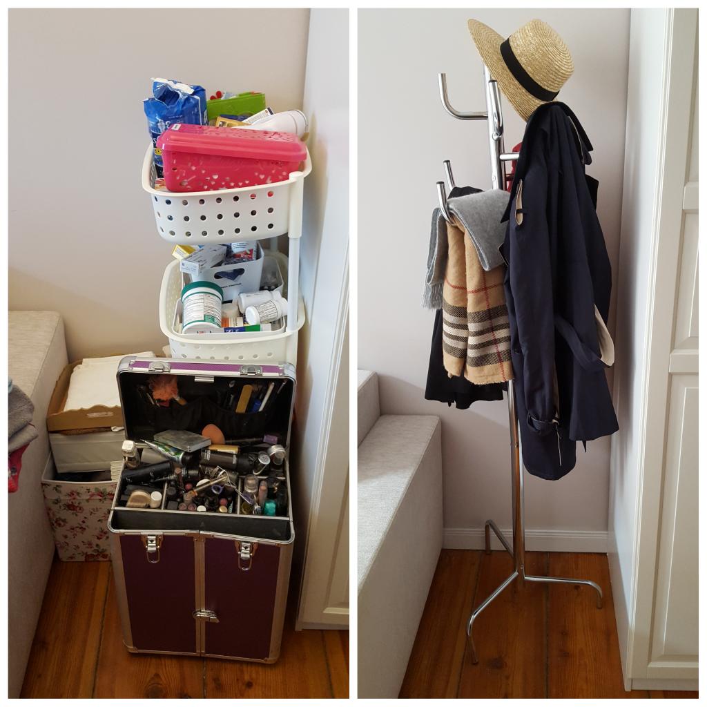 Chaos im Kleiderschrank_Ankleidezimmer Garderobe Kleiderschrank ausmisten vorher nachher