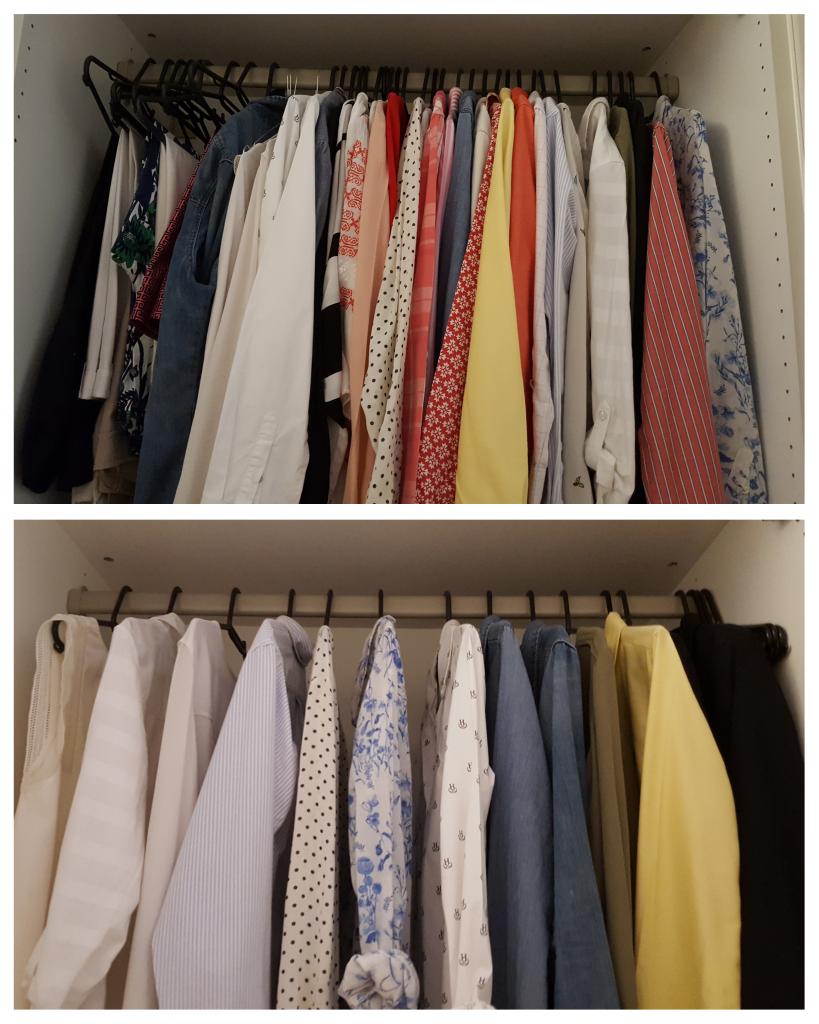 eiderschrank_Ankleidezimmer Kleiderschrank ausmisten vorher nachher