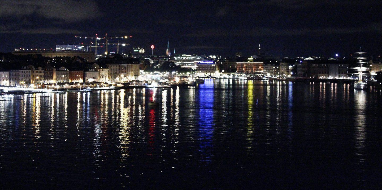 Stockholm Nacht Lichter Hafen Wochenende Skyline Kurztrip Sightseeing Panorama Sehenswürdigkeiten